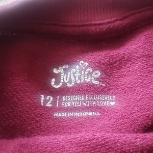 """Justice Shirts & Tops - Justice Burgundy PullOver  """"Chill Vibes"""""""